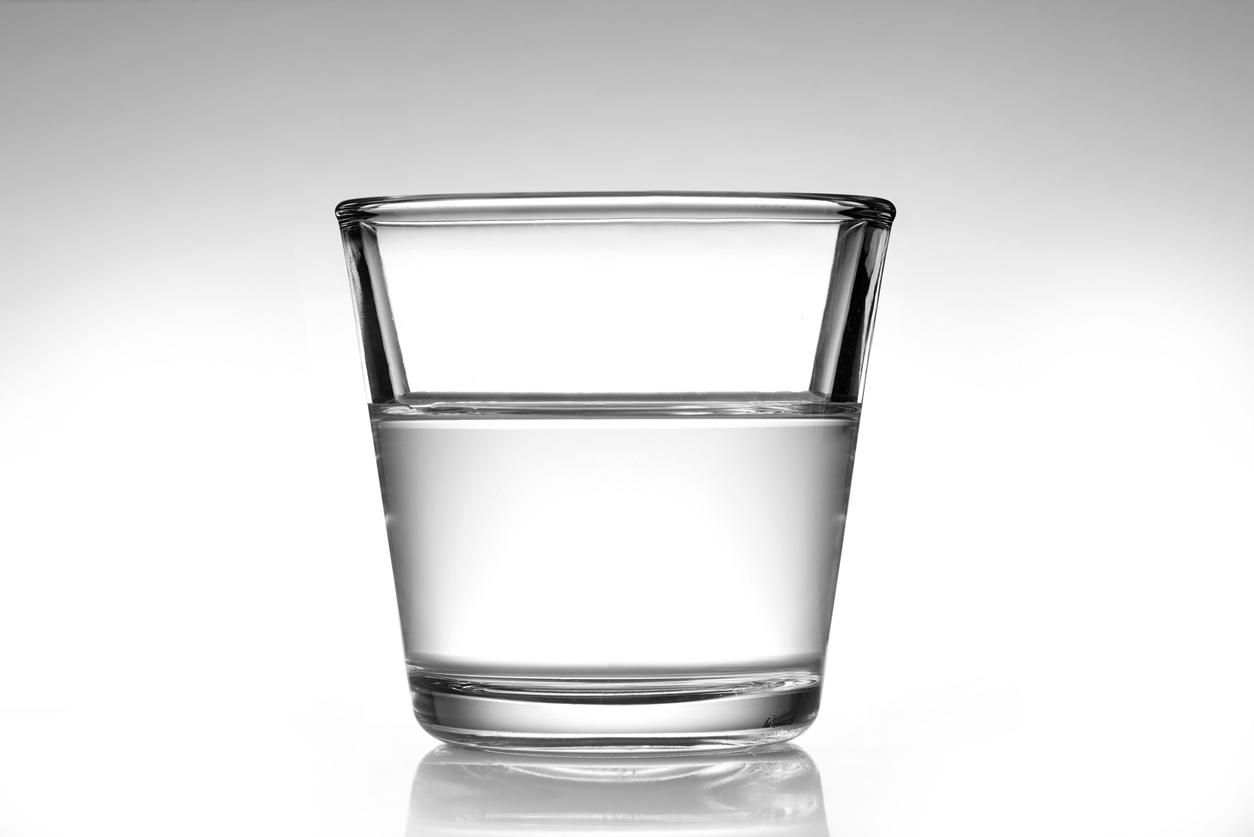 half empty glass of water